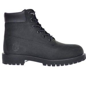 Timberland Big Kids 6 Inch Premium Boot Black 4